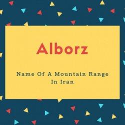 Alborz Name Meaning Name Of A Mountain Range In Iran