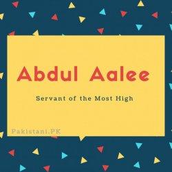 Abdul Aalee