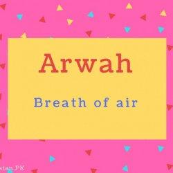 Arwah name Meaning Breath of air.