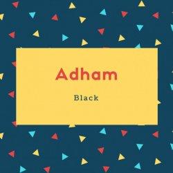 Adham Name Black