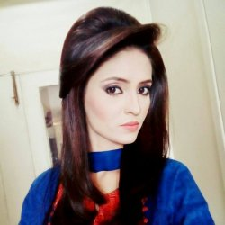 Beautiful Anam Afzal in Blue Dress