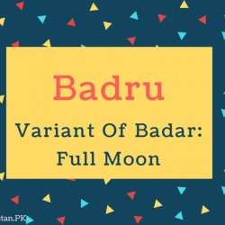 Badru Name Meaning Variant Of Badar- Full Moon