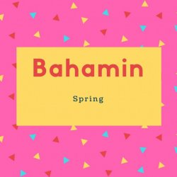 Bahamin Name Meaning Spring