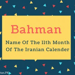Bahman Name Meaning Name Of The 11th Month Of The Iranian Calender