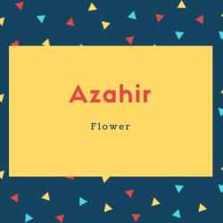 Azahir Name Meaning Flower