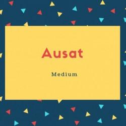 Ausat Name Meaning Medium
