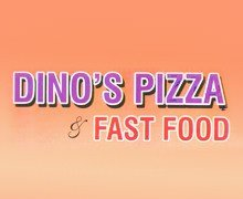 Dinos Pizza & Fast Food Logo.