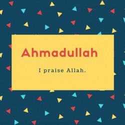Ahmadullah Name Meaning I praise Allah