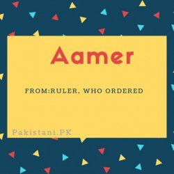 Aamer name meaning Ruler, Who Ordered.