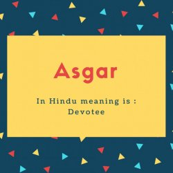 Asgar Name Meaning In Hindu meaning is _ Devotee