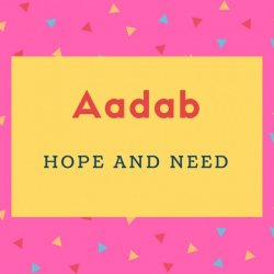 Aadab Name Meaning