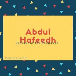 Abdul Hafeedh