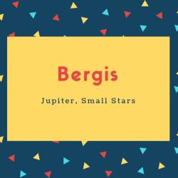 Bergis Name Meaning Jupiter, Small Stars