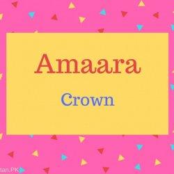 Amaara Name Meaning Crown.