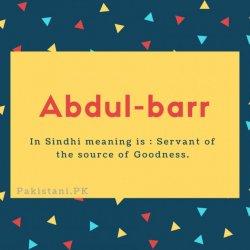 Abdul-barr