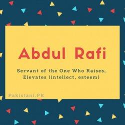 Abdul Rafi