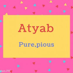 Atyab name Meaning Pure,pious.