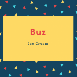 Buz Name Meaning Ice Cream