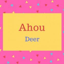 Ahou name meaning Deer.
