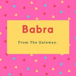 Babra Name Foreign Woman