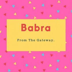 Babra Name Foreign Woman