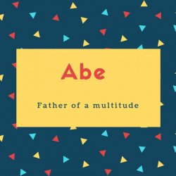Abe Name Meaning Father of a multitude