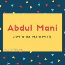 Abdul Mani