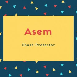 Asem Name Meaning Chast-Protector