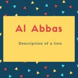 Al Abbas Name Meaning Description of a lion