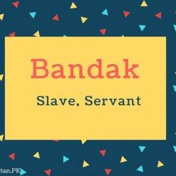 Bandak Name Meaning Slave, Servant