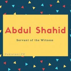 Abdul Shahid