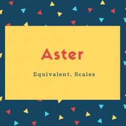 Aster Name Meaning Equivalent, Scales