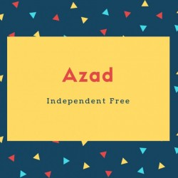 Azad Name Meaning Independent Free