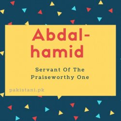 Abdal-hamid name meaningServant Of The Praiseworthy One.