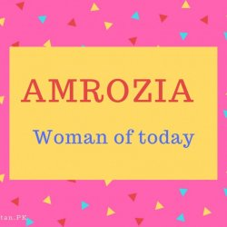 Amrozia Name Meaning Woman of today