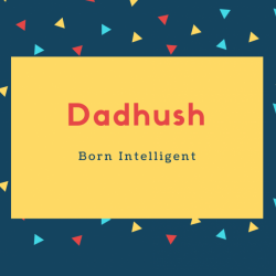Dadhush Name Meaning Born Intelligent