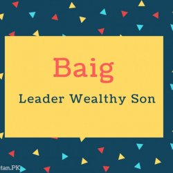 Baig Name Meaning Leader Wealthy Son
