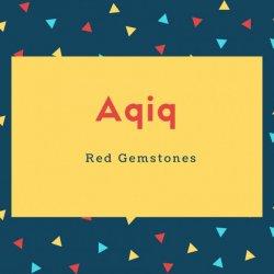 Aqiq Name Meaning Red Gemstones