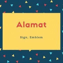 Alamat Name Meaning Sign, Emblem