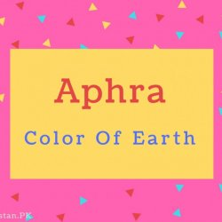 Aphra Name Meaning Color Of Earth.