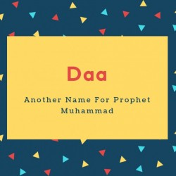 Daa Name Meaning Another Name For Prophet Muhammad