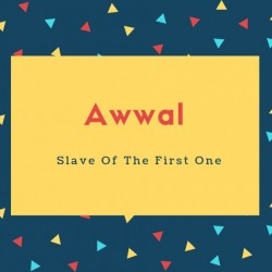 Awwal Name Meaning Slave Of The First One