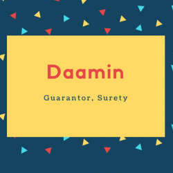 Daamin Name Meaning Guarantor, Surety