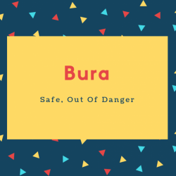 Bura Name Meaning Safe, Out Of Danger