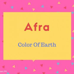 Afra name meaning Color Of Earth.