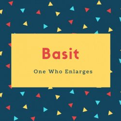Basit Name Meaning One Who Enlarges