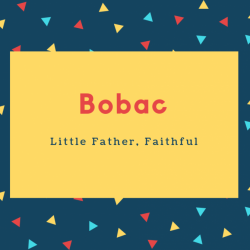 Bobac Name Meaning Little Father, Faithful