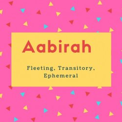 Aabirah Name Meaning