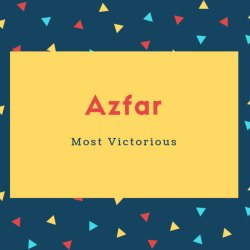 Azfar Name Meaning Most Victorious