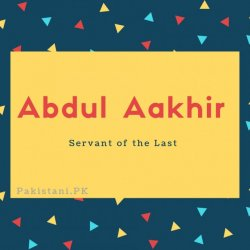 Abdul Aakhir